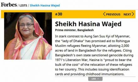 Forbes ranks Hasina as 30th most powerful women