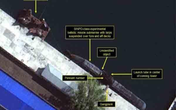 Image shows North Korea 'ballistic submarine'