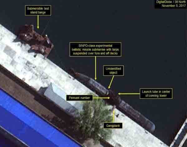 Image shows North Korea 'ballistic submarine'