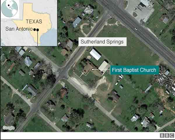 Texas church shooting leaves 26 daed