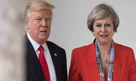 Trump hits out at UK PM T May after far-right video tweets