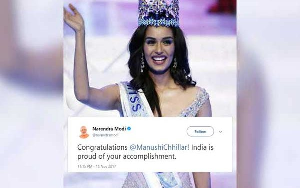 Indian Manushi Chhillar crowned Miss World 2017