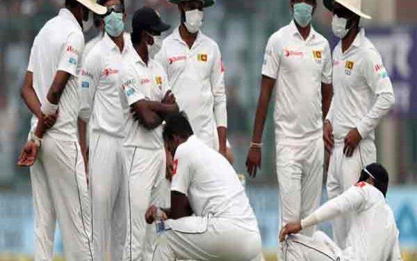 Delhi pollution interrupts India-Sri Lanka Test