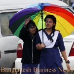 School goer in rainy day 1
